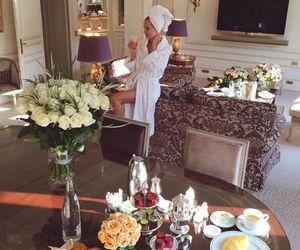 luxury, breakfast, and flowers image