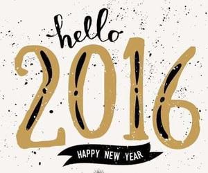 2016, hello, and happy image