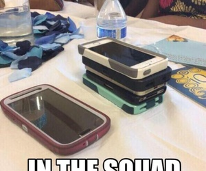 squad, funny, and iphone image