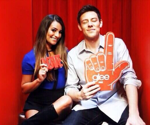 lea michele, cory monteith, and glee image