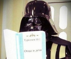 book, darth vader, and star wars image