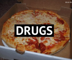 pizza, drugs, and food image