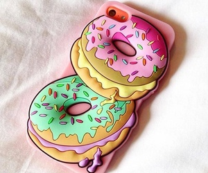 donuts, case, and iphone image
