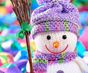 colorfull, happy, and snow image