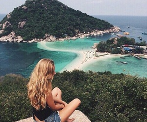 adventure, girl, and view image