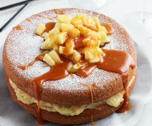 food, apple, and cake image
