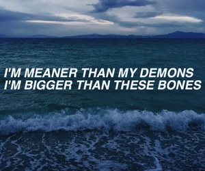 demons, girl, and Lyrics image