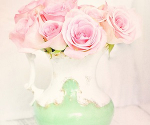 roses, pastel, and pink image