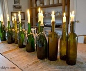 candle holders, diy tutorials, and diy recycling image