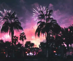 fireworks, pink, and summer image