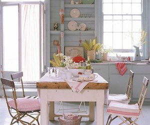 kitchen, interior, and pink image