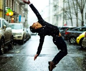 dance, boy, and snow image