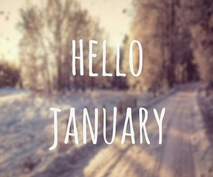 cold, winter, and hello january image