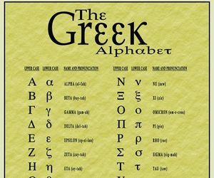 alphabet and greek image