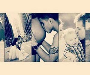 baby, couple, and kiss image
