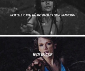 Taylor Swift, out of the woods, and quote image
