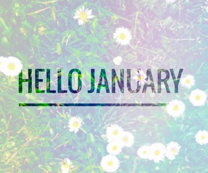 easel and hello january image
