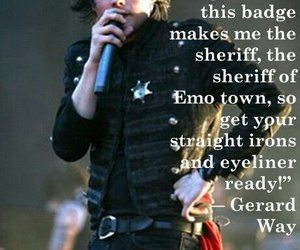 funny, gerard way, and sheriff image
