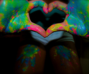 heart, love, and colorful image