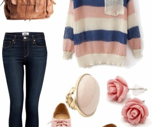 outfit, pink, and clothes image