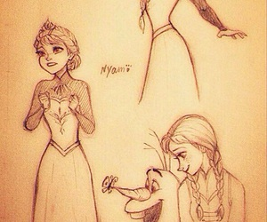 frozen, olaf, and disney princess image