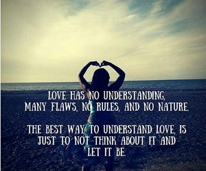 let it be, love, and quote image