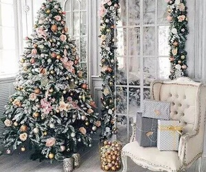 christmas, decorations, and elegant image