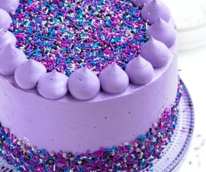 cake, purple, and food image