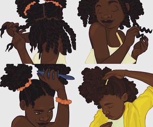 art, black girl, and dark skin image