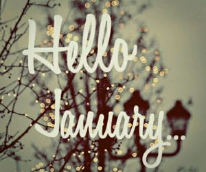 january, hello, and new year image