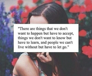 quote, life, and let go image