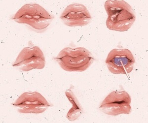 lips, art, and aesthetic image
