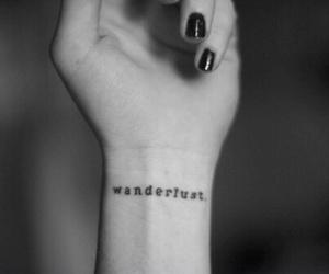 tattoo, wanderlust, and black image