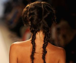 fashion, runway, and hair image