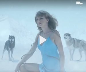 blue dress, out of the woods, and hair image
