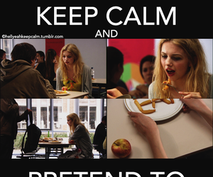 cassie, keep calm, and eat image