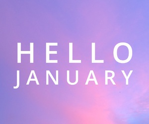 january, hello, and purple image