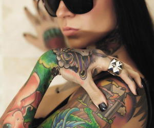 tattoo, swag, and glasses image