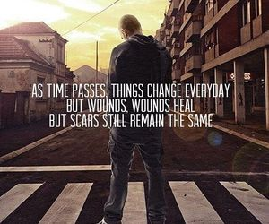 quote, eminem, and scars image