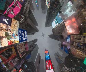city, new york, and plane image