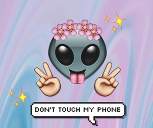 wallpaper, alien, and emoji image