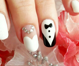 nail art, nails, and wedding image