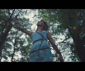 1989, blue dress, and forest image