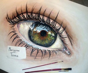 art, beautiful, and eyes image
