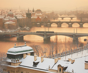 prague, travel, and winter image