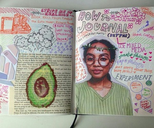 journal and drawing image