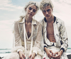 model, lucky blue smith, and pyper america smith image