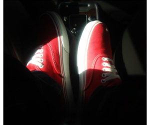 red vans, vans, and justin bieber image