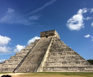 cancun, chichen itza, and holiday image