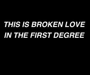 black and white, dark, and Lyrics image